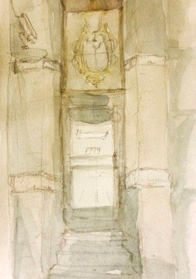 Doorway Underpainting