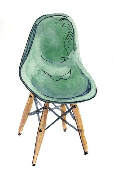 Dowel Leg Side Chair