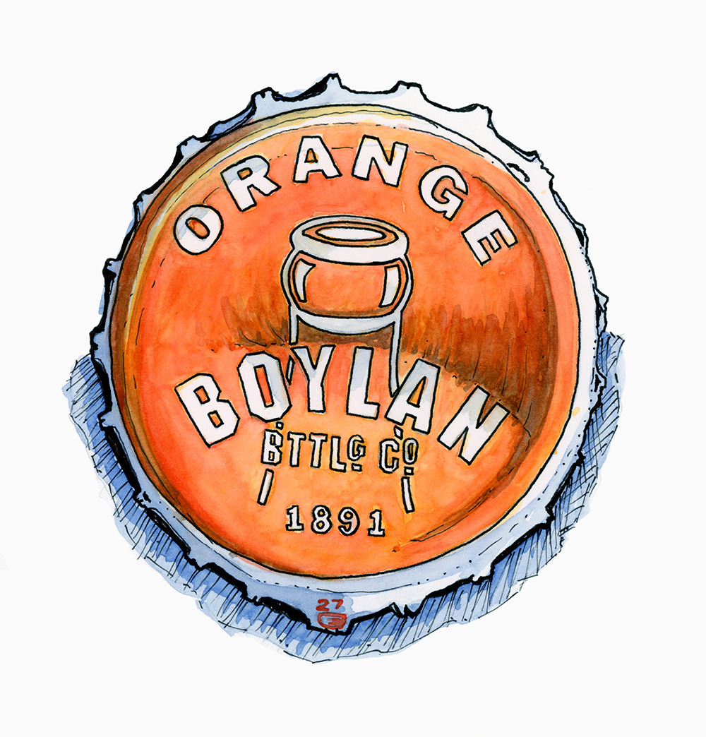 Orange Bottle Cap