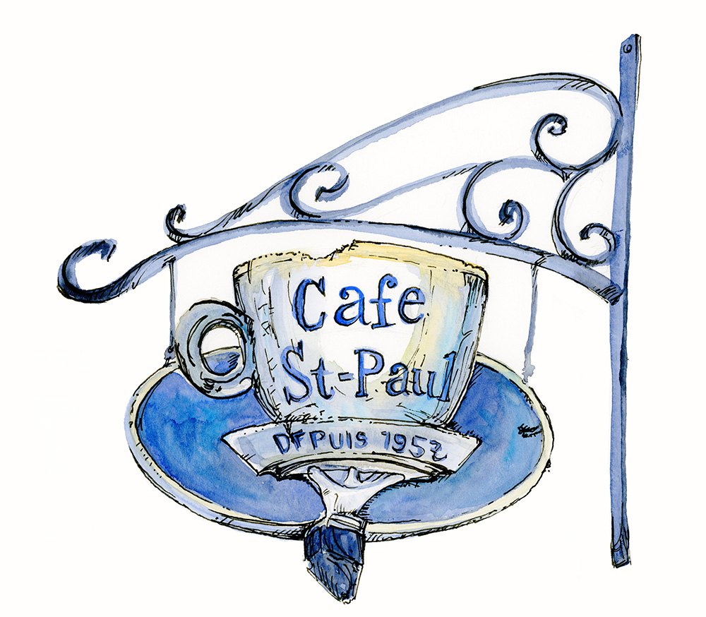 Cafe St. Paul Sign