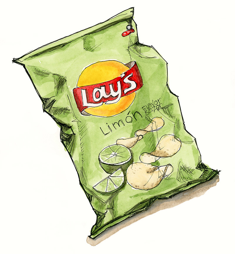 Lime Flavoured Chips